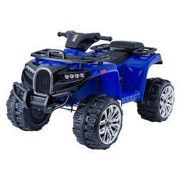 Quad électrique ALLROAD 12V, bleu, énormes roues EVA douces, 2 x 12V, moteur, lumières LED, lecteur MP3 avec USB, batterie 12V7Ah
