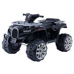 Quad Ride-On électrique ALLROAD 12V, noir, énormes roues EVA douces, 2 x 12V, moteur, lumières LED, lecteur MP3 avec USB, batterie 12V7Ah