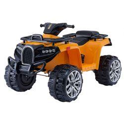 Quad électrique ALLROAD 12V, orange, énormes roues EVA douces, 2 x 12V, moteur, lumières LED, lecteur MP3 avec USB, batterie 12V7Ah