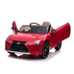 Voiture électrique Lexus LC500, rouge, sous licence d'origine, alimentation par batterie 12 V, portes à ouverture verticale, moteur 2x, télécommande 2,4 Ghz, suspension, démarrage en douceur