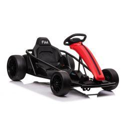 DRIFT-CAR 24V, Rouge, Roues de dérive lisses, Moteur 2 x 350W, Mode dérive à 18 Km / h, Batterie 24V, Construction solide