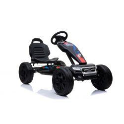 FORD Go Kart - Voiture à pédales avec ralenti, noir, roues Eva, licence ORIGINAL
