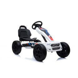 FORD Go Kart - Voiture à pédales avec ralenti, blanc, roues Eva, licence ORIGINAL