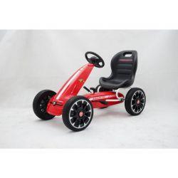 ABARTH Go Kart - Voiture à pédales avec ralenti, rouge, roues Eva, licence ORIGINAL