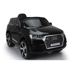 Voiture électrique pour enfants Audi Q7 Quattro Neuve, Noir, Homologuée d'origine, Alimentée par batterie, Portes ouvrantes, Siège simple, 2x moteur, Batterie 12 V, Télécommande 2.4 Ghz, Jantes EVA souples, Démarrage en douceur
