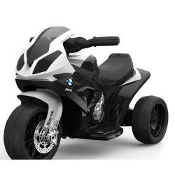 BMW S 1000 RR Tricycle électrique pour enfants, Moto à piles, 3 roues, sous licence, 1x moteur, batterie 6V, Noir
