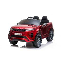 Porteur électrique Range Rover EVOQUE, peint en rouge, double siège en cuir, lecteur MP3 avec entrée USB, lecteur 4x4, batterie 12V10Ah, roues EVA, axes de suspension, démarrage à clé, télécommande Bluetooth 2,4 GHz, sous licence