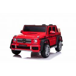 Voiture électrique Mercedes G650 MAYBACH, rouge, licence d'origine, alimentation par batterie 12V, portes ouvrantes, moteur 2 x 25 W, télécommande 2,4 GHz, roues EVA douces, suspension, démarrage progressif, lecteur MP3 avec entrée USB / SD
