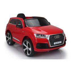Voiture électrique pour enfants Audi Q7 Quattro Neuve, Rouge, Homologuée d'origine, Alimentée par batterie, Portes ouvrantes, Siège simple, 2x moteur, Batterie 12 V, Télécommande 2.4 Ghz, Roues EVA souples, Démarrage en douceur