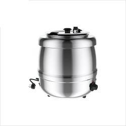 Bouilloire à soupe, extérieur en acier inoxydable, 35 ° C à 80 ° C, 6 positions de thermostat, 400 Watts, 10L